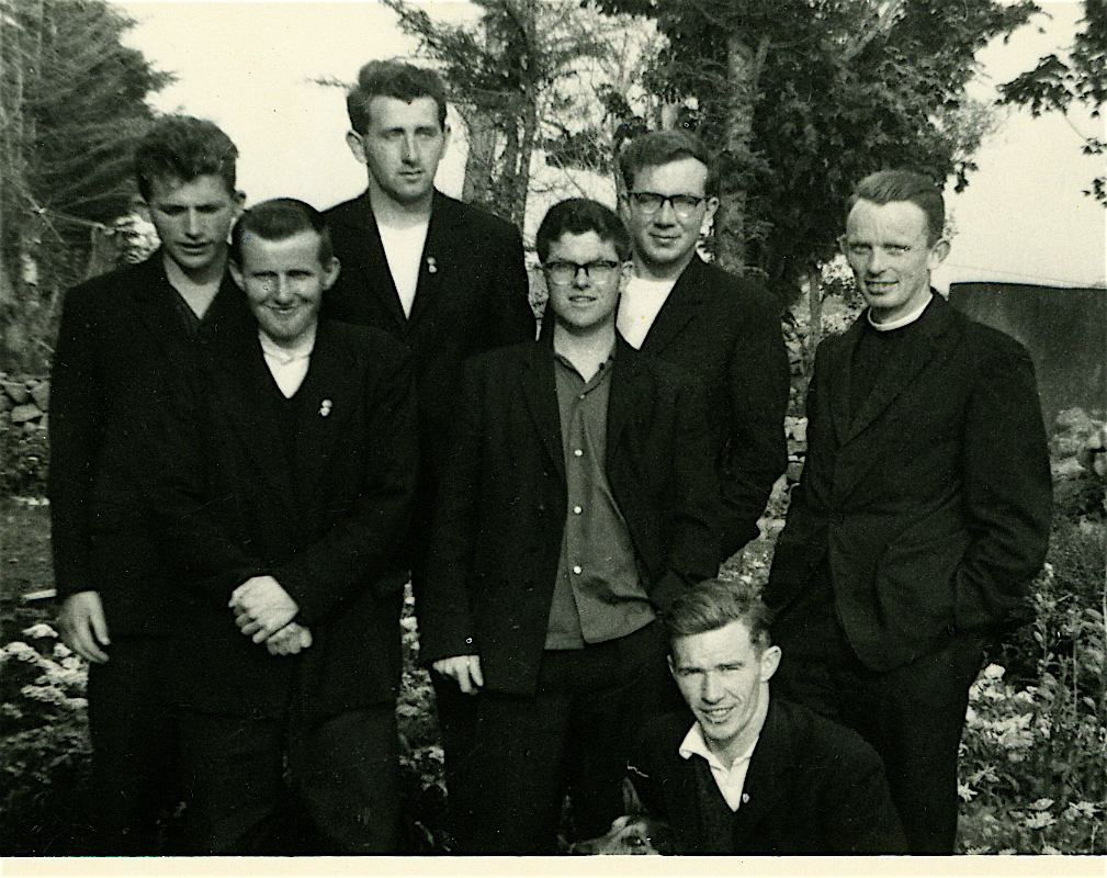 A group of novices with a very young Brother Seamus . Please provide information in the comments section below.