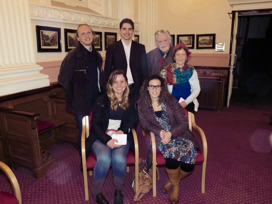 Group from Saint Agatha's Parish, Dublin at the Living the Gospel event at Edmund Rice House. Back Row: Christopher, Anatoly, Ronnie and Dolores. Front Row: Ariadne and Marianna.