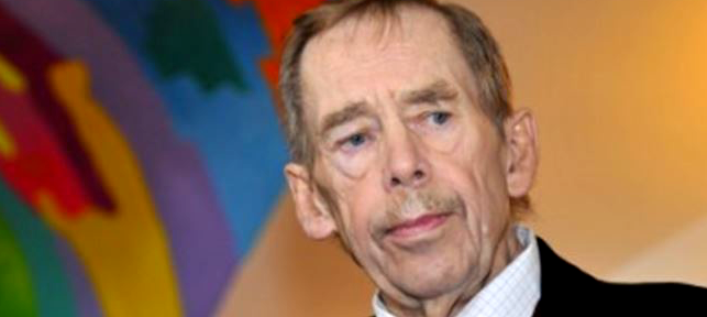 Image of Vaclav Havel speaking at an Event