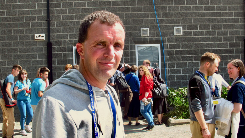 Phil Ryan at Youth 2000 in Roscrea